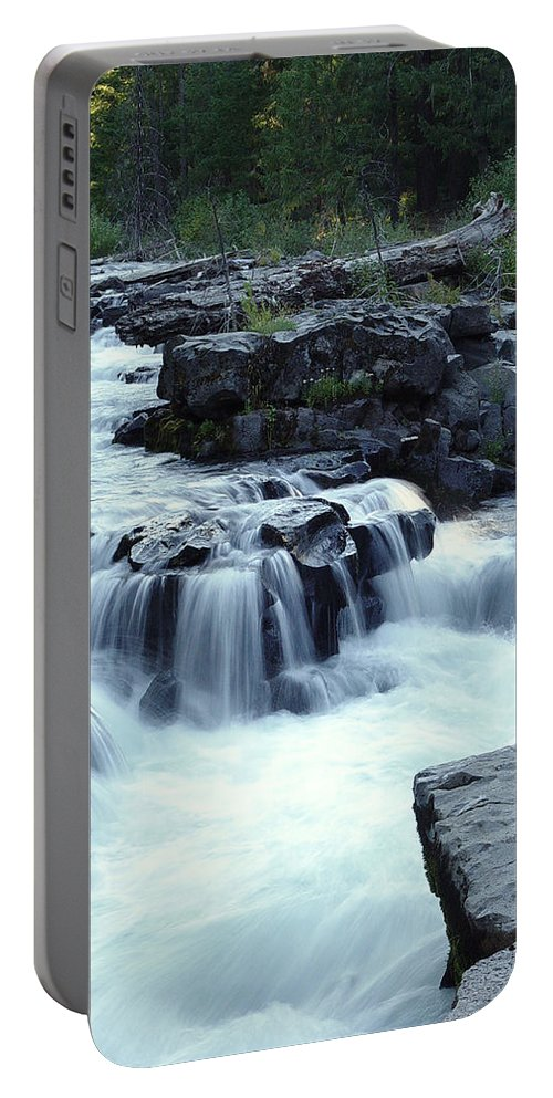 Waterfall Portable Battery Charger featuring the photograph Natural Bridges Falls 03 by Peter Piatt