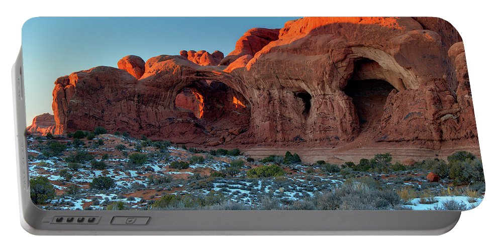Arches National Park Portable Battery Charger featuring the photograph Natural Caves by Paul Cannon