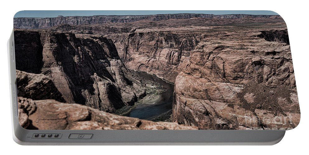 Horseshoe Bend Portable Battery Charger featuring the photograph Natural View Colorado River Page Arizona by Chuck Kuhn
