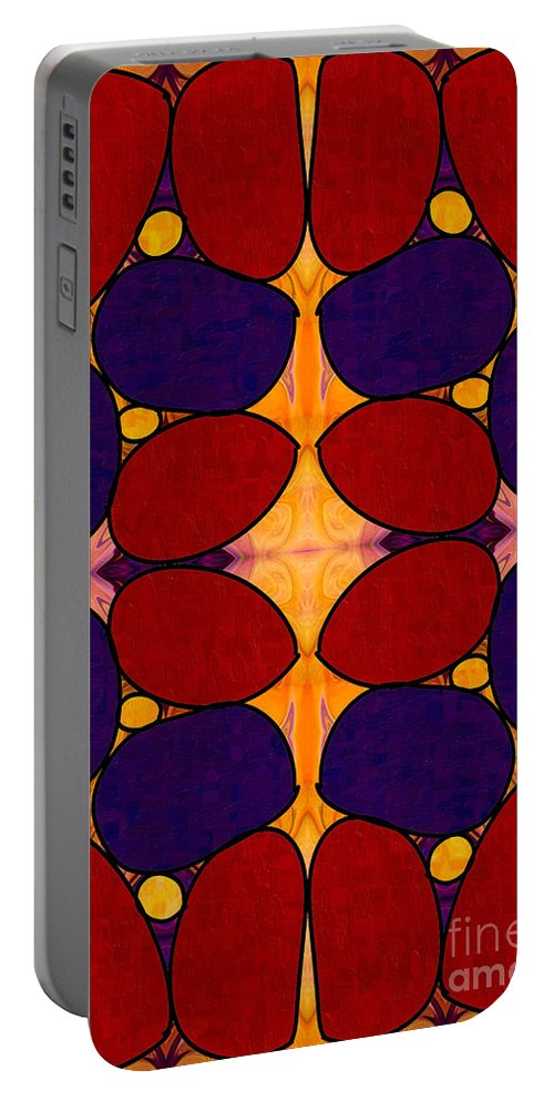 2015 Portable Battery Charger featuring the digital art Naturally Dimensional Abstract Bliss Art By Omashte by Omaste Witkowski