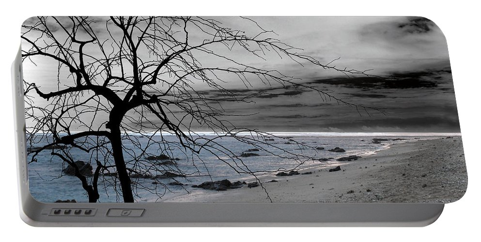 Photo Portable Battery Charger featuring the photograph Nature - Sad Tree by Munir Alawi