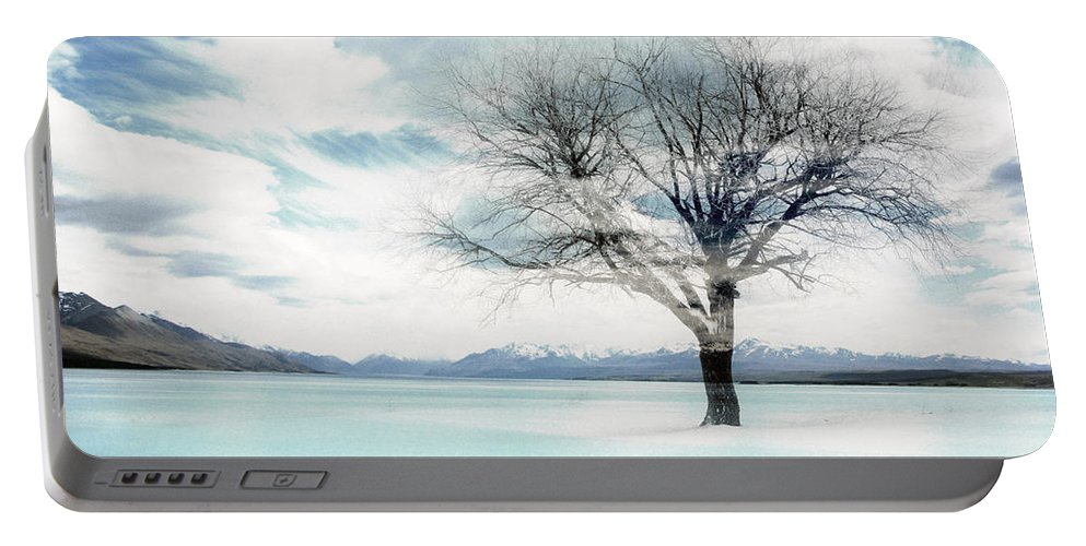 Nature Portable Battery Charger featuring the photograph Nature - The Lonely Tree by Munir Alawi