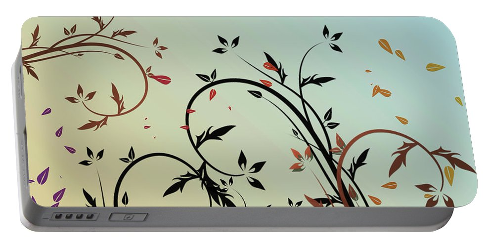 Nature Portable Battery Charger featuring the digital art Nature Branches by Ivan Angelovski