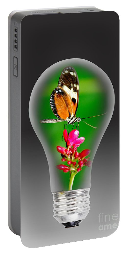 Energy Portable Battery Charger featuring the photograph Nature Power Bulb. by W Scott McGill