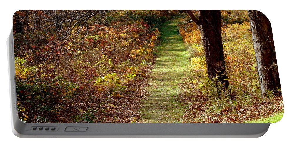 Country Portable Battery Charger featuring the photograph Nature Trail by Arlane Crump