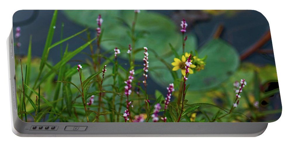 lilly Pads Portable Battery Charger featuring the photograph Nature Water Garden by Paul Mangold