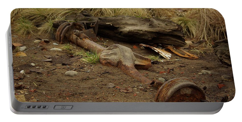 Nature Portable Battery Charger featuring the photograph Nature Wins by Cindy Johnston