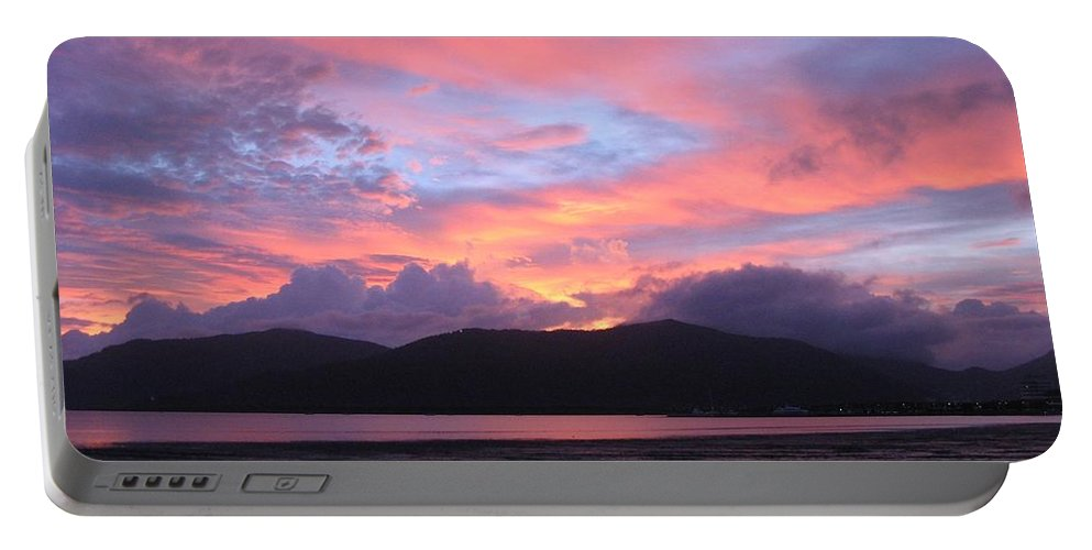 Sunrise Portable Battery Charger featuring the photograph Nature's Cairns Sunrise by Diane Sleger