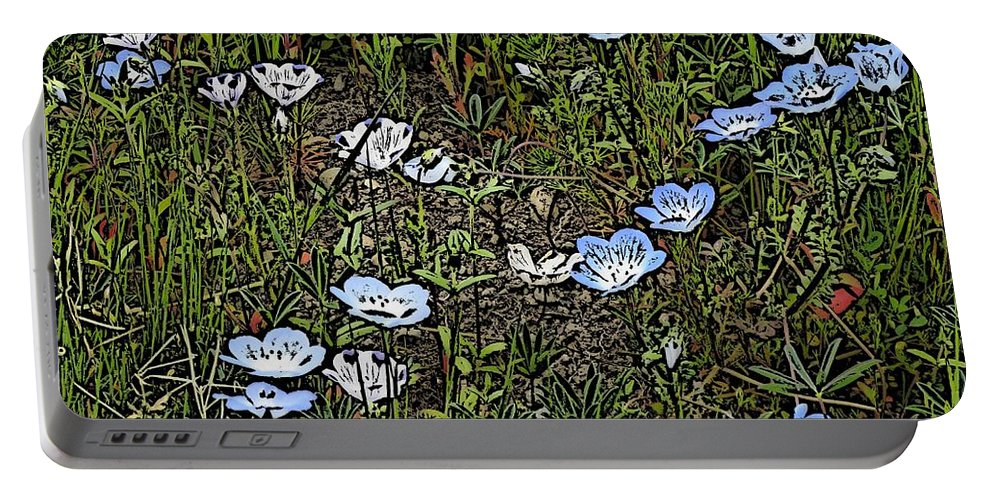 Flowers Portable Battery Charger featuring the digital art Natures Field Of Dreams by Tim Allen