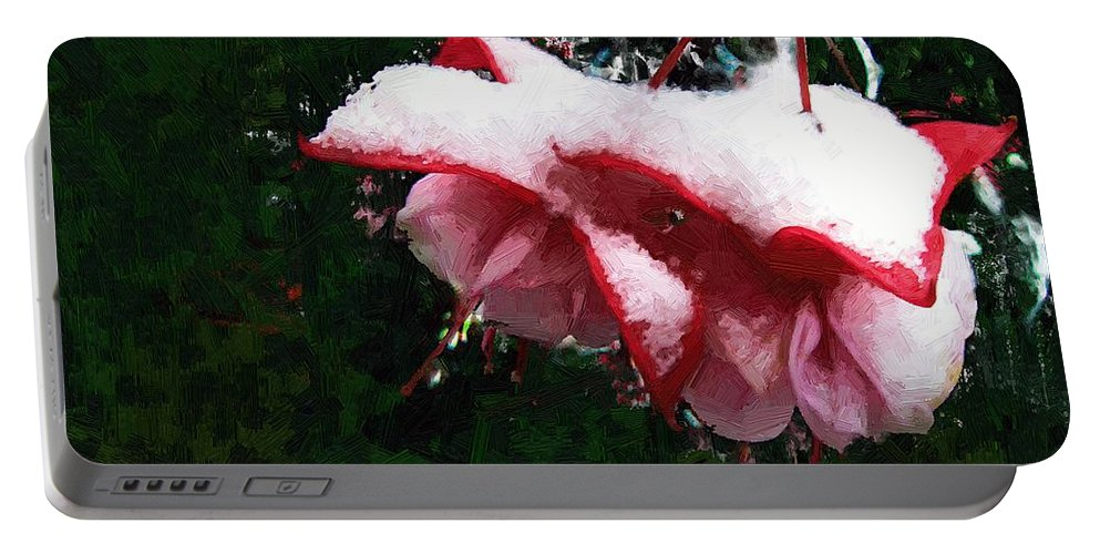 Floral Portable Battery Charger featuring the painting Nature's Ornament by RC DeWinter