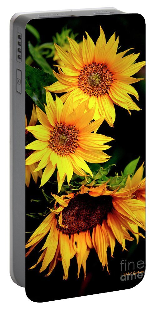 Nature Portable Battery Charger featuring the photograph Natures Sunflower Bouquet by Dale E Jackson