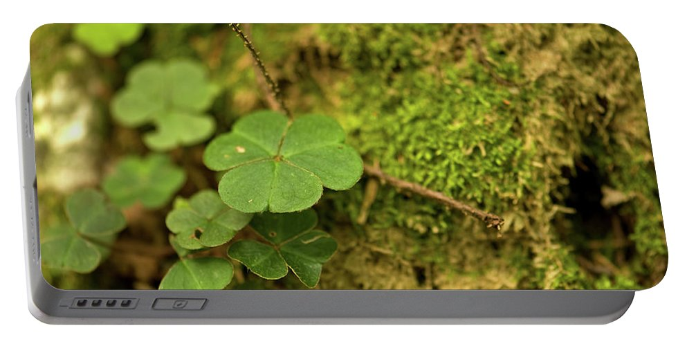 Clover Portable Battery Charger featuring the photograph Natures Tiny Work by Paul Mangold