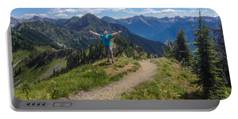 Idaho Peak Portable Battery Charger featuring the photograph The Hills Are Alive by Joy McAdams