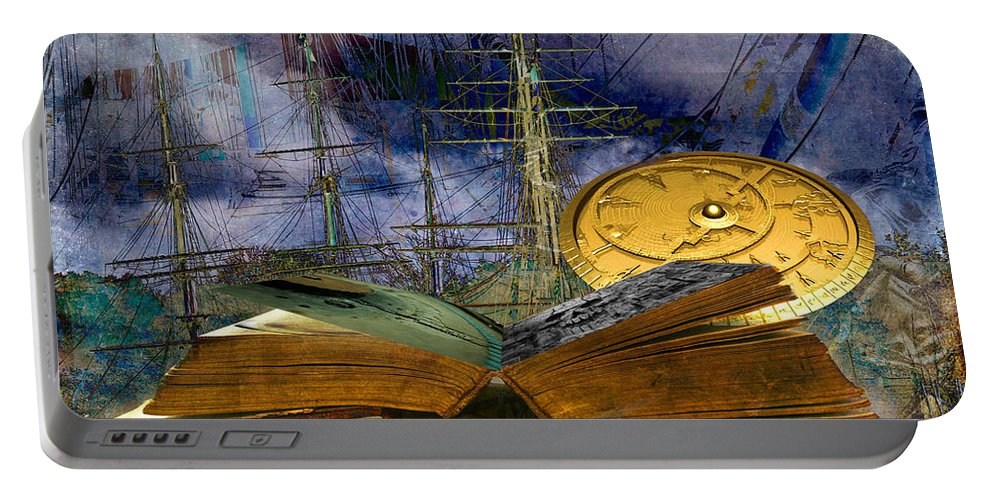Sea Portable Battery Charger featuring the photograph Nautical by Larry White