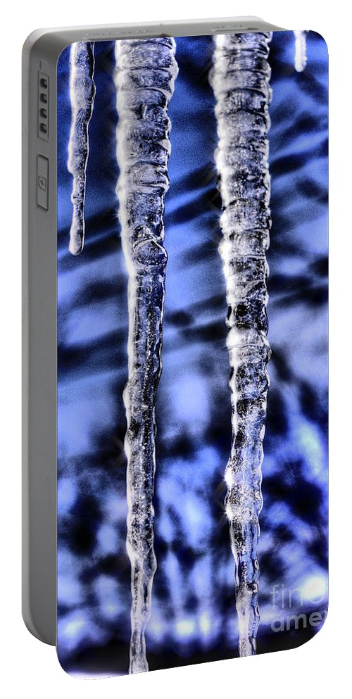 Icicles Portable Battery Charger featuring the photograph Nautilus by September Stone