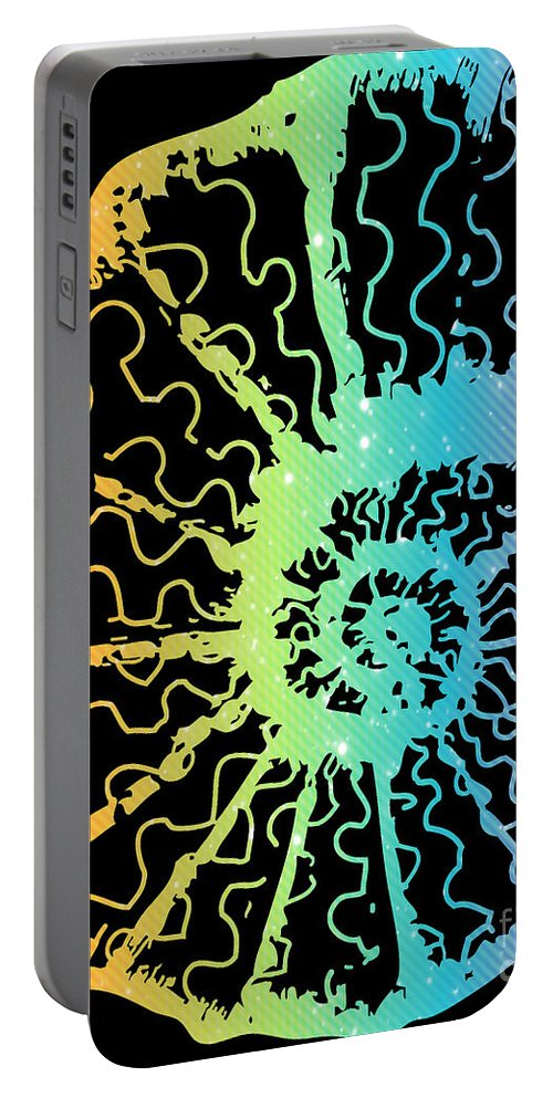 Nautilus Portable Battery Charger featuring the digital art Nautilus by Jennifer Capo