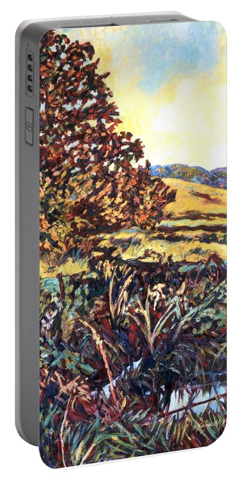 Landscape Portable Battery Charger featuring the painting Near Childress by Kendall Kessler