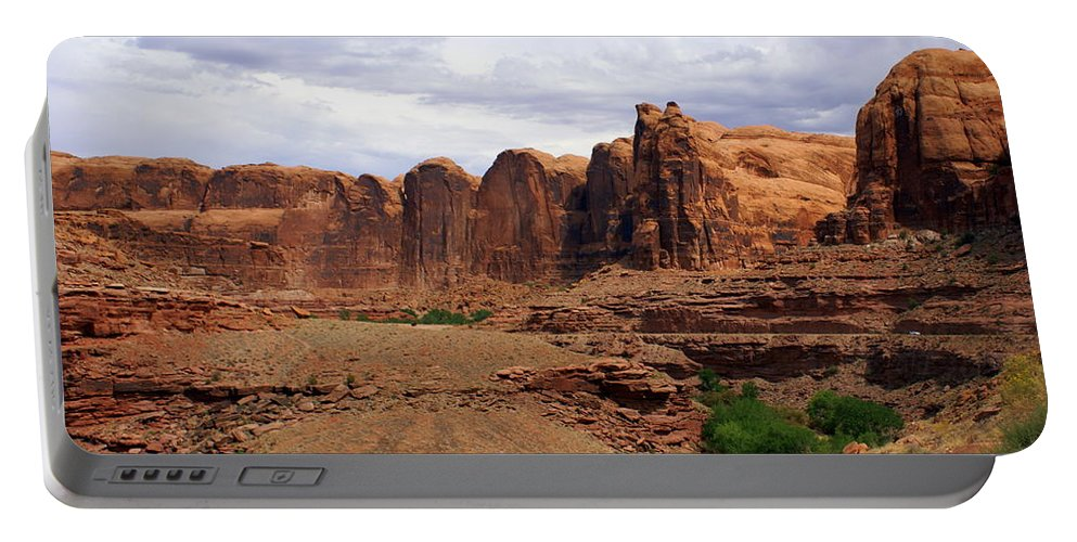 Canyon Portable Battery Charger featuring the photograph Near Moab 4 by Marty Koch