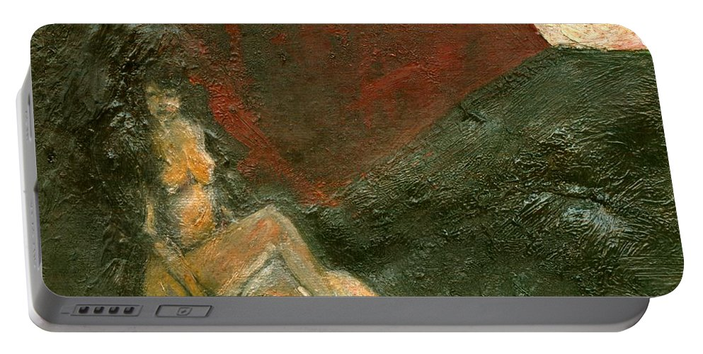 Colour Portable Battery Charger featuring the painting Near Wall I by Wojtek Kowalski