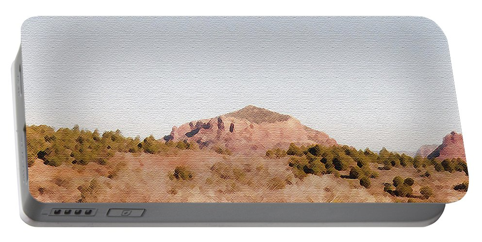 Desert Portable Battery Charger featuring the photograph Nearly Deserted by Pharris Art