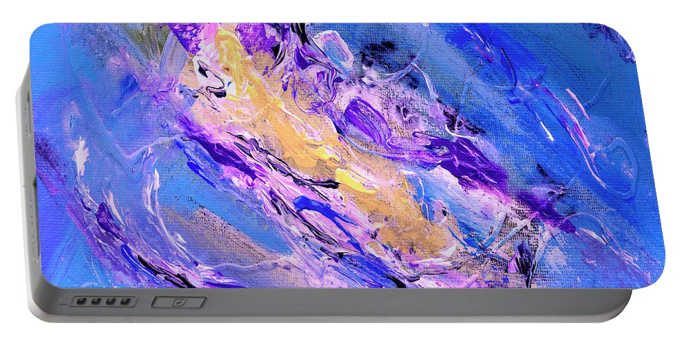 Abstract Portable Battery Charger featuring the painting Nebula by Dominic Piperata