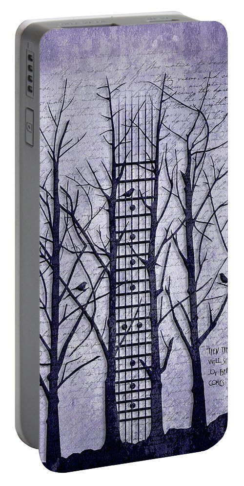 Abstract Art Portable Battery Charger featuring the digital art Neck Of The Woods II by Gary Bodnar