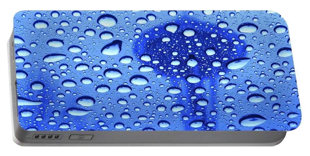 Seattle Portable Battery Charger featuring the photograph Needle In Rain Drops H006 by Yoshiki Nakamura