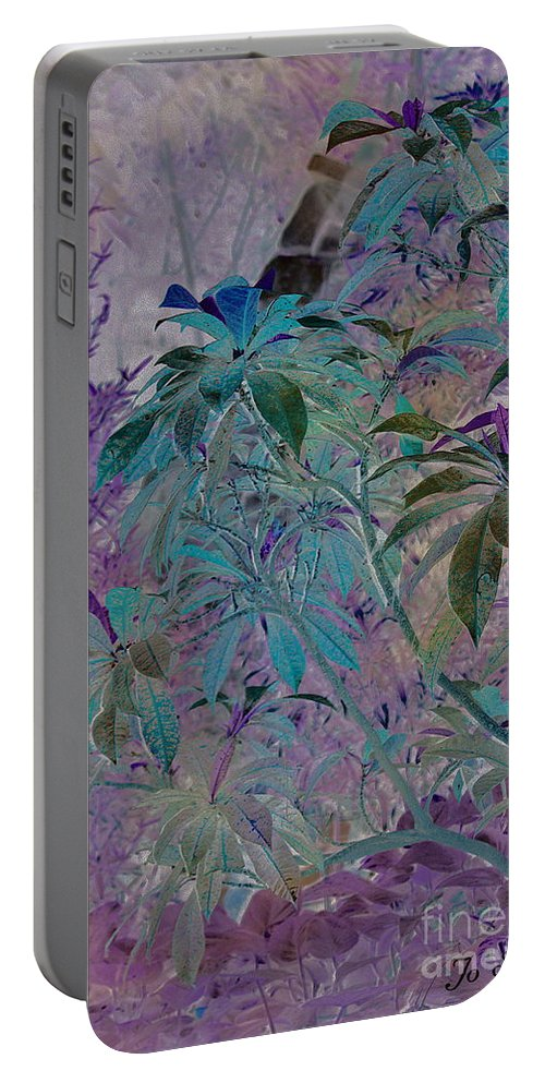 Assiniboine Park Conservatory Jungle Portable Battery Charger featuring the photograph Negative Jungle by Joanne Smoley