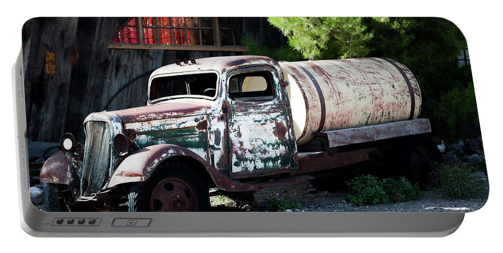 Truck Portable Battery Charger featuring the photograph Nelson Chevrolet by Michelle Rollins