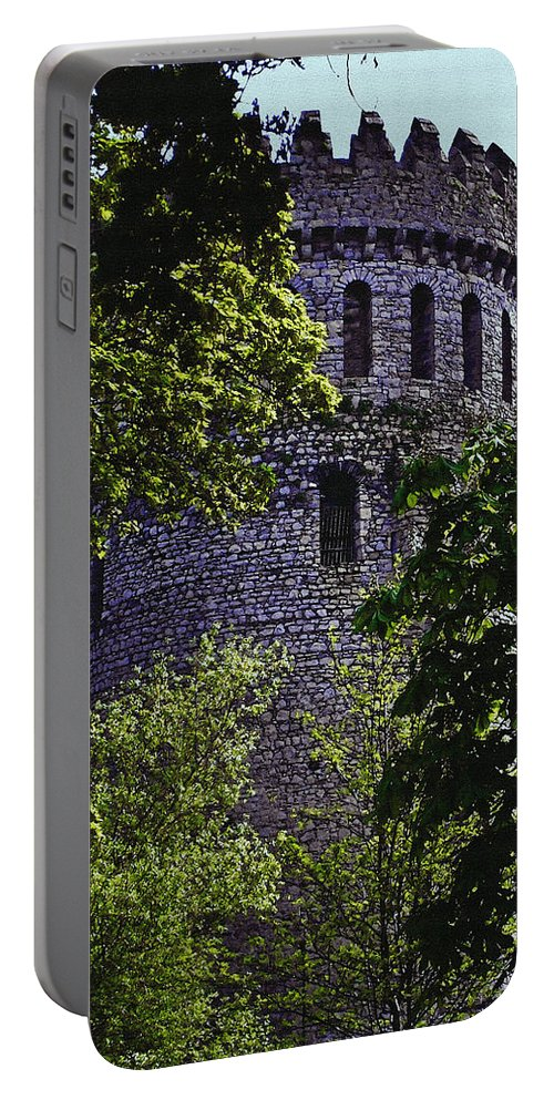 Nenagh Portable Battery Charger featuring the painting Nenagh Castle Ireland by Teresa Mucha