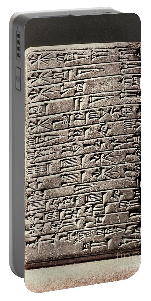 6th Century B.c. Portable Battery Charger featuring the photograph Neo-babylonian Clay Tablet by Granger