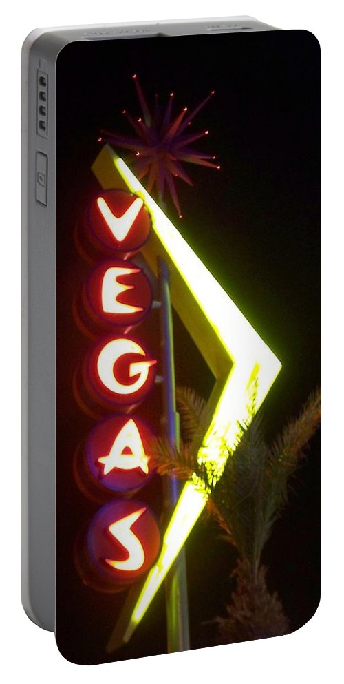 Fremont East Portable Battery Charger featuring the photograph Neon Signs 2 by Anita Burgermeister