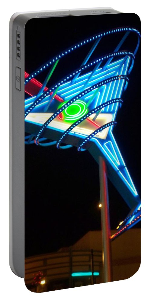 Fremont East Portable Battery Charger featuring the photograph Neon Signs 4 by Anita Burgermeister