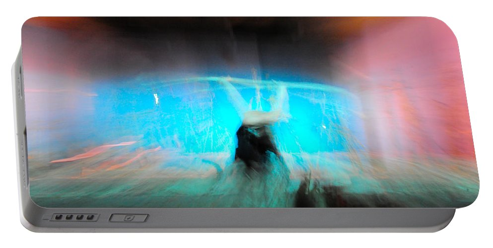 Long Exposure Portable Battery Charger featuring the photograph Neon Stick by Scott Sawyer