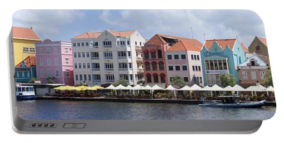 Main Street Portable Battery Charger featuring the photograph Netherlands Antilles by Heather Coen