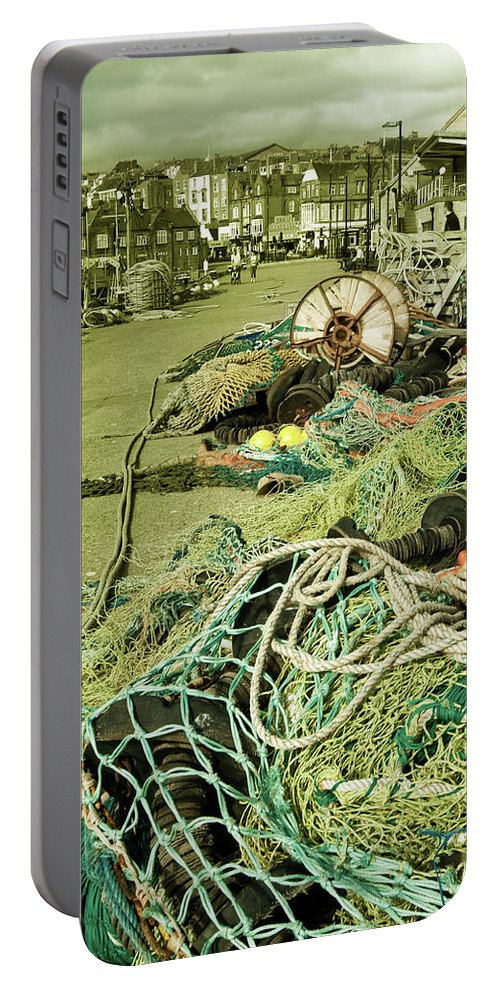 Fish Portable Battery Charger featuring the photograph Nets N Ropes by Rob Hawkins