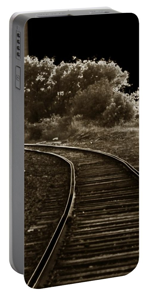 Outside Portable Battery Charger featuring the photograph Never A Straight Path by Charleen Treasures