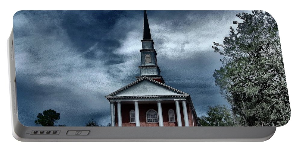 Church Portable Battery Charger featuring the photograph Never Alone by Gina Welch