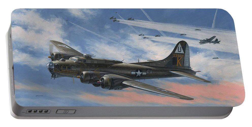 Boeing Portable Battery Charger featuring the painting Never Turned Back by Wade Meyers