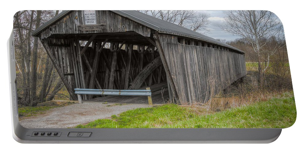 America Portable Battery Charger featuring the photograph New Hope Covered Bridge by Jack R Perry