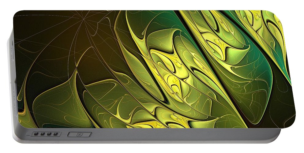 Digital Art Portable Battery Charger featuring the digital art New Leaves by Amanda Moore