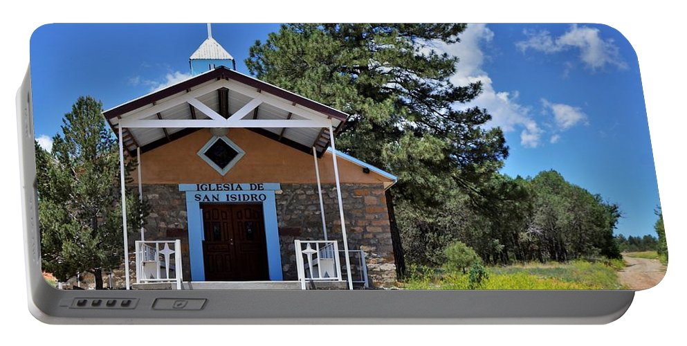 Church Portable Battery Charger featuring the photograph New Mexico Church by Dwight Eddington