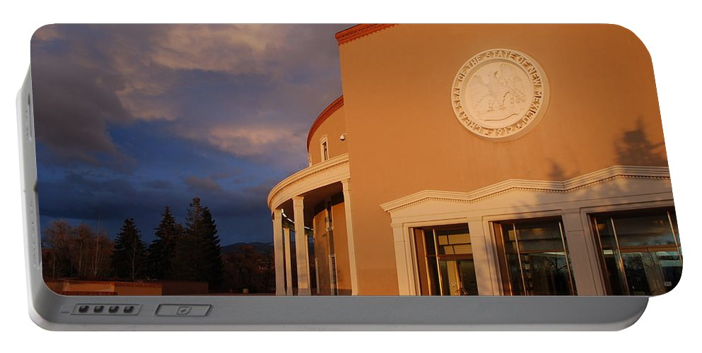 Architecture Portable Battery Charger featuring the photograph New Mexico State Capital Building by Rob Hans