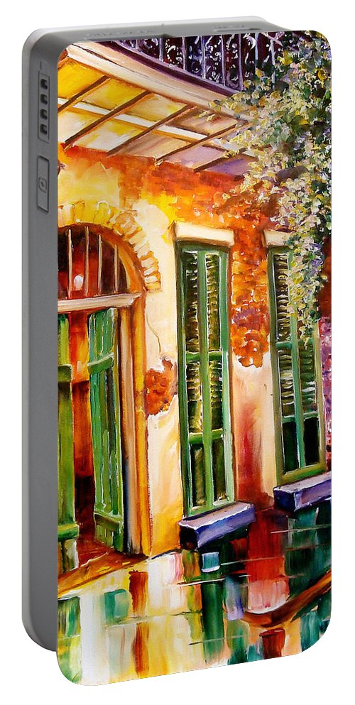New Orleans Portable Battery Charger featuring the painting New Orleans Mystery by Diane Millsap