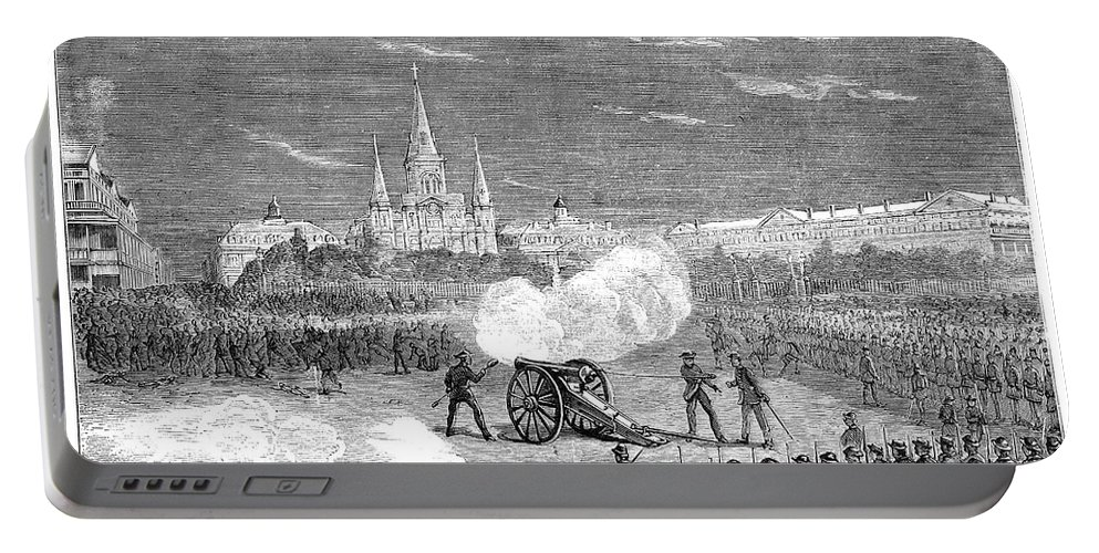 1873 Portable Battery Charger featuring the photograph New Orleans: Riot, 1873 by Granger