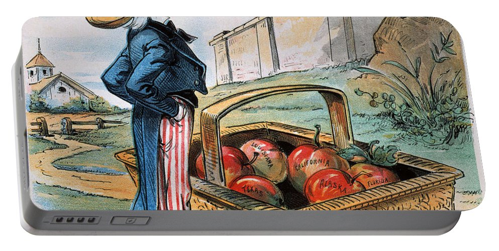 1897 Portable Battery Charger featuring the photograph New Territories Cartoon by Granger
