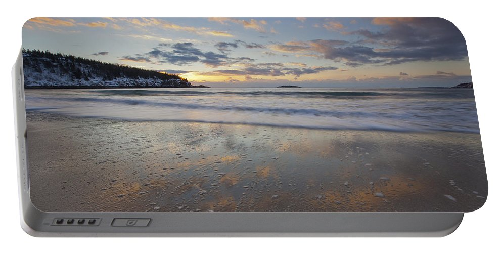 New Year's Portable Battery Charger featuring the photograph New Year's Morning On Sand Beach by Scott Bryson