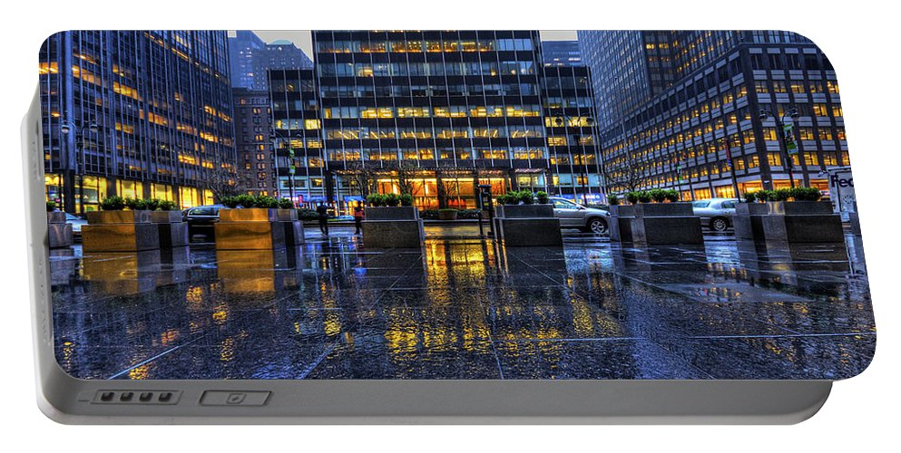 New York Portable Battery Charger featuring the photograph New York Blues by Evelina Kremsdorf
