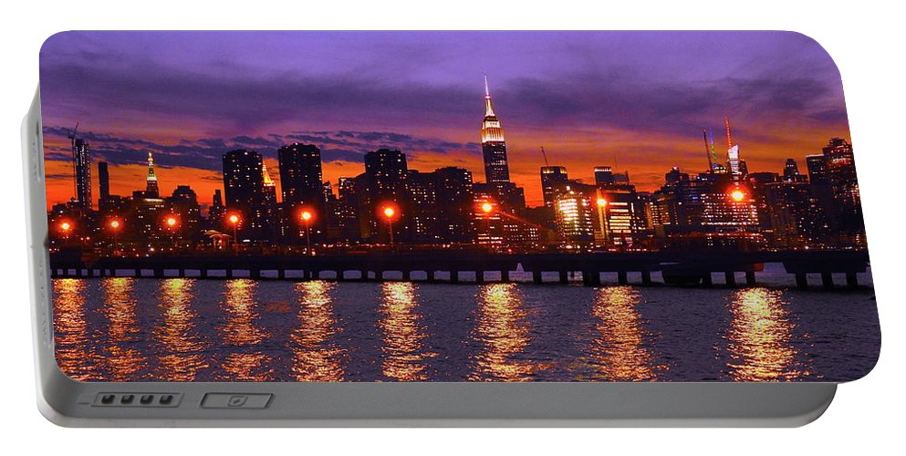 Nyc Portable Battery Charger featuring the photograph New York City by Drew Goehring