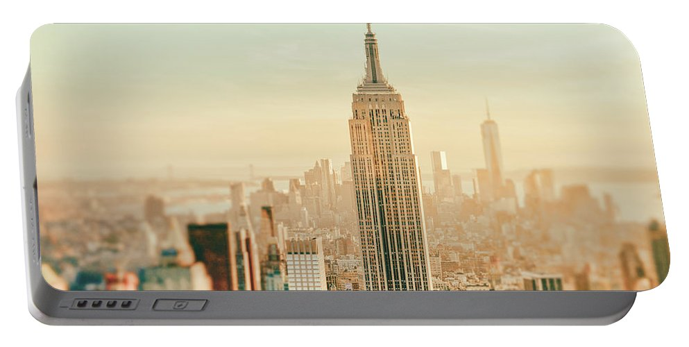 Nyc Portable Battery Charger featuring the photograph New York City - Skyline Dream by Vivienne Gucwa